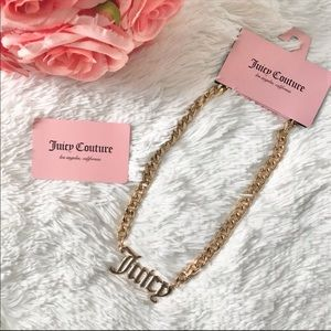 NWT JUICY COUTURE chain necklace chunky logo